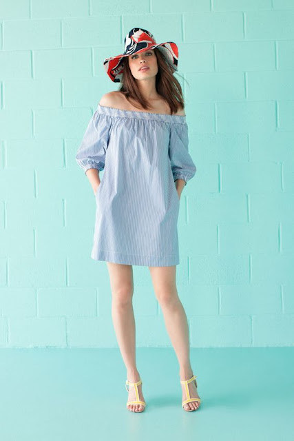 Off-Shoulder-sky-blue-dress