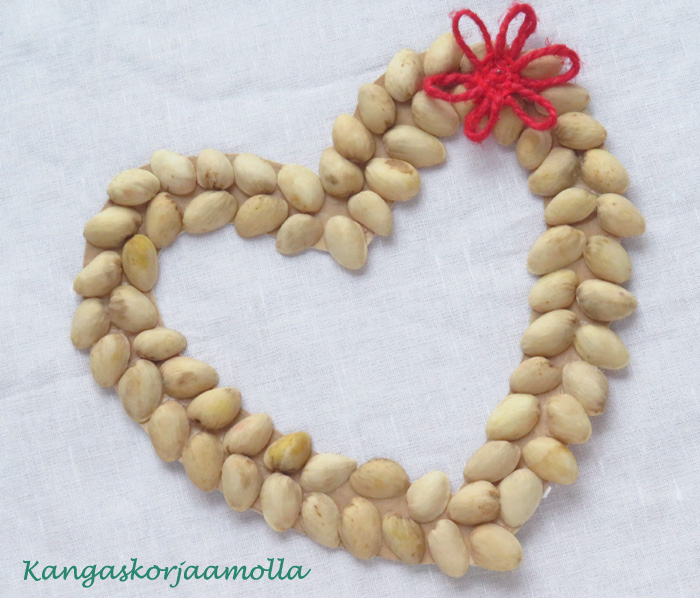 askartele pistaasipähkinän kuorista