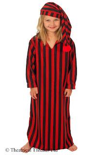Ebenezer Scrooge Nightshirt Kids Costume from Theatrical Threads Ltd