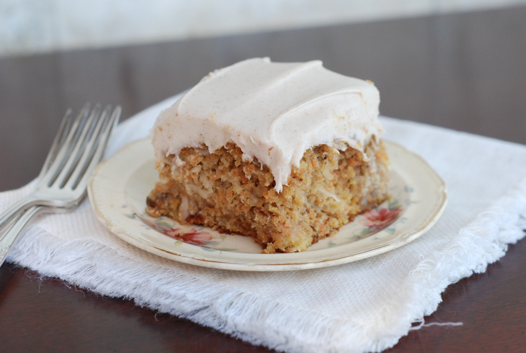 Carrot Cake With Buttermilk Glaze And Cinnamon Cream Cheese Icing