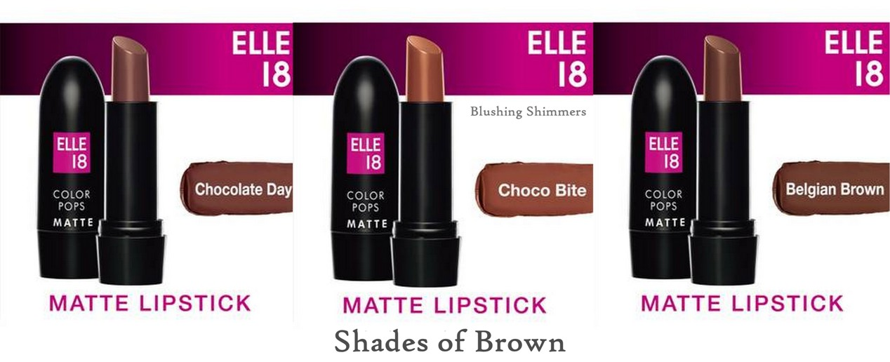Elle 18 Color Pop Matte Lip Color brown