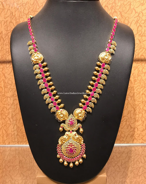 Pink Ruby Mango Necklace