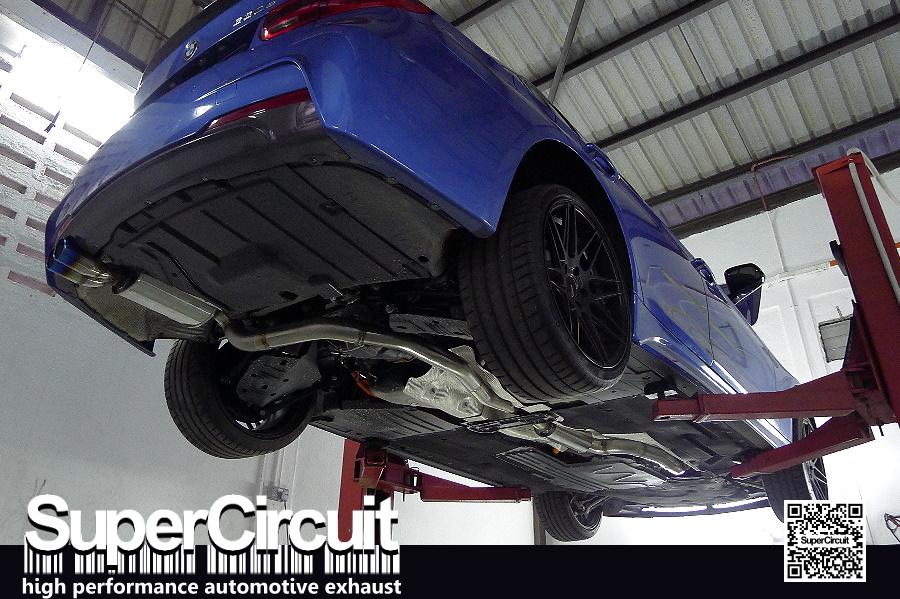SUPERCIRCUIT Exhaust Pro Shop: BMW F30 330e Catback Exhaust