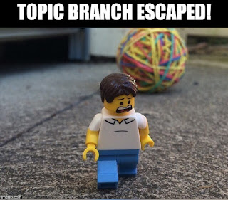 Topic branch escaped!