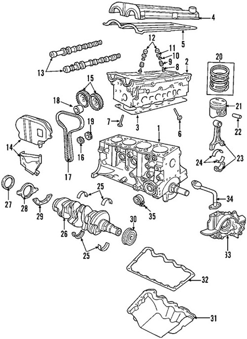 ford 3 valve engine diagram