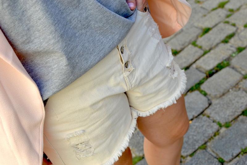 short en jean blanc Pimkie