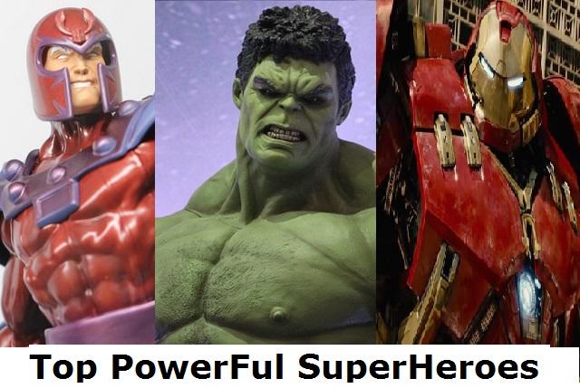 powerful superheroes hulk,thor,superman,hulkbuster,magneto,charles xavier
