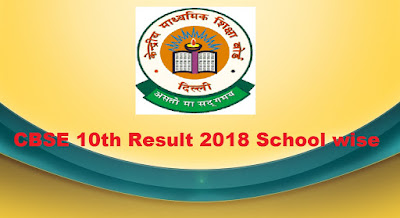 CBSE 10th Result 2018 School wise