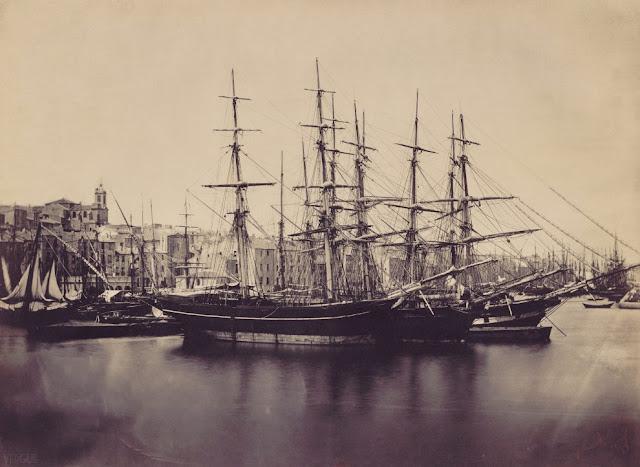 Fotografías de la vida en el mar en el siglo XIX