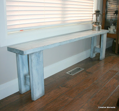 Old Fashioned Milk Paint Rustic Bench