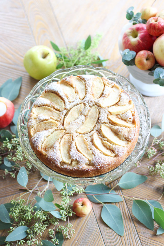 The best apple cake recipe! So simple and so elegant.