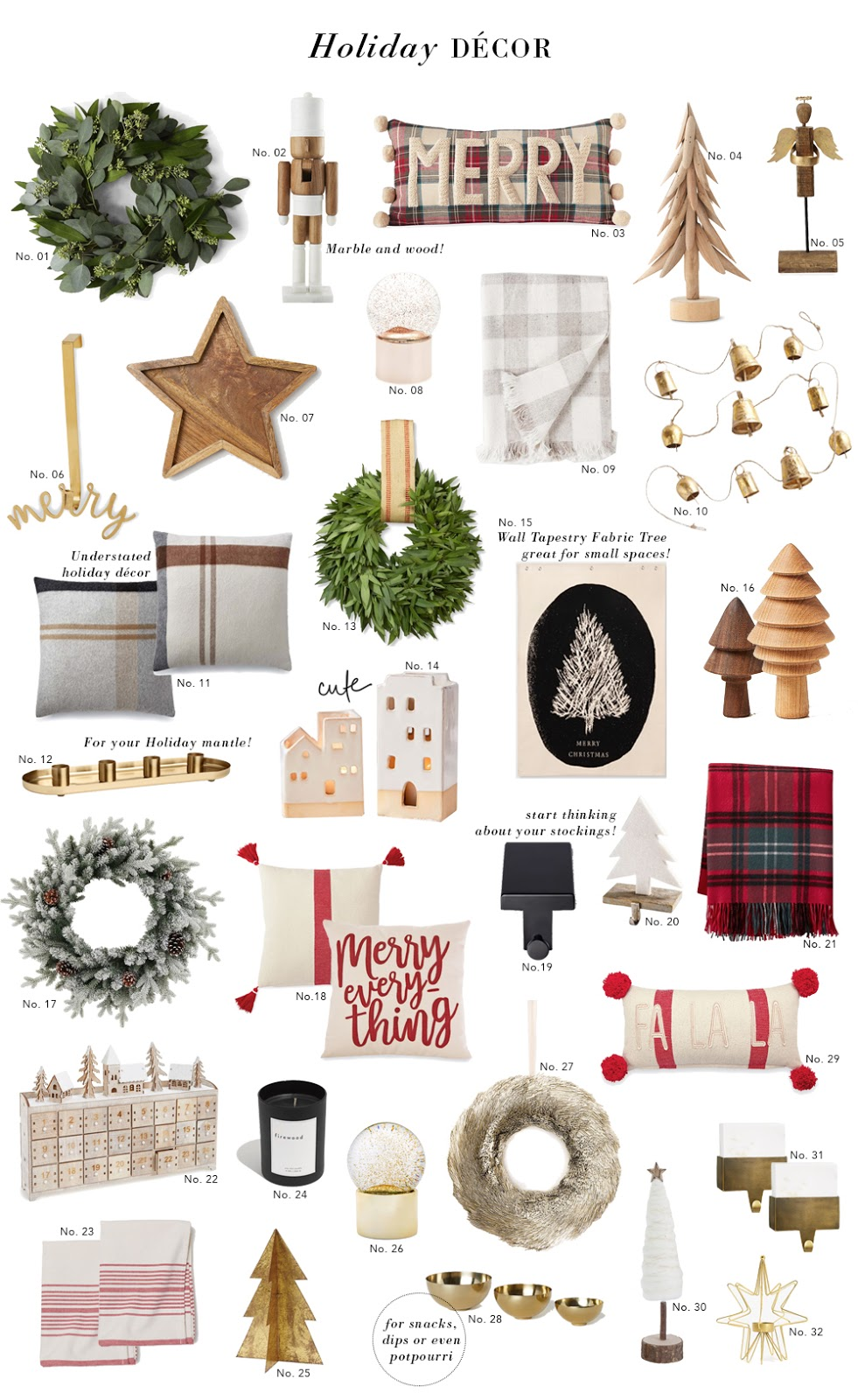 Decor & Interiors File: 32 Holiday Décor Items To Get You Into the Spirit of the Season