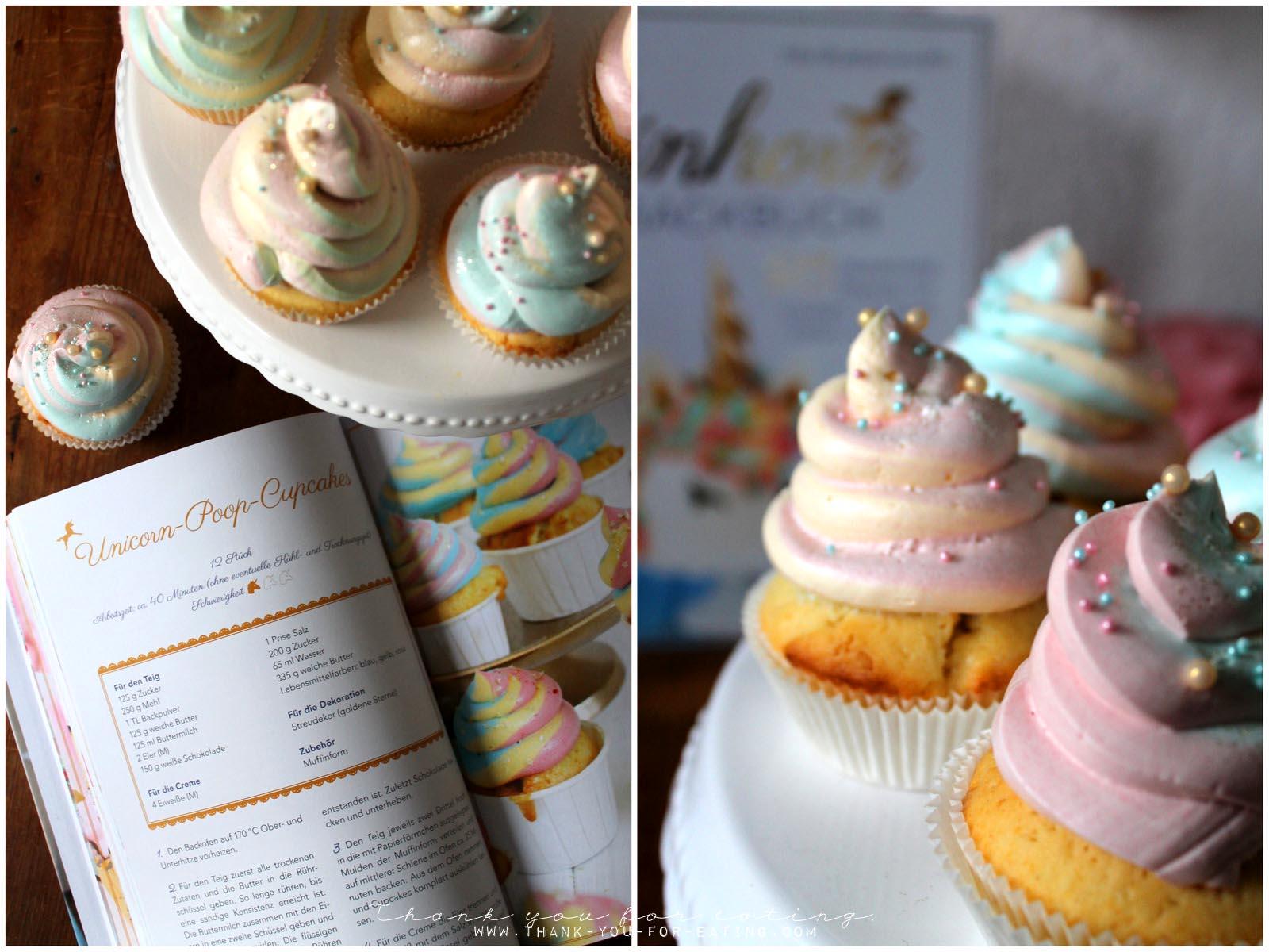 Rezept für Einhorn-Cupcakes