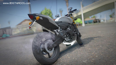 Download mod moto Naked honda Hornet Branca KLE621 [V2] para o jogo GTA San Andreas, GTA SA PC
