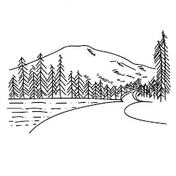 drawing mountain simple mountains
