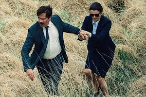 "Colin Farrell and Rachel Weisz in the first trailer of the film ""The Lobster"""