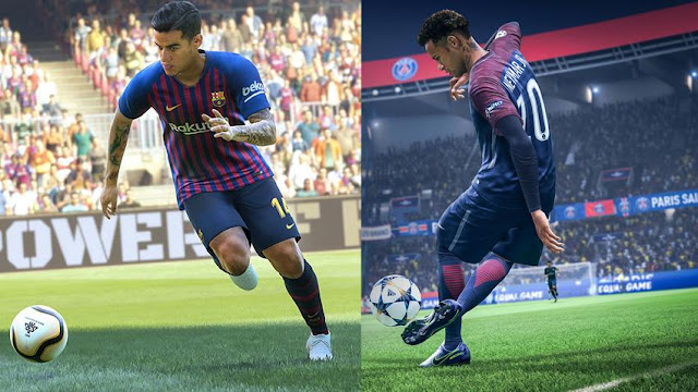 شاهد بالصور لعبة PES 2019 تقصف مباشرة سلسلة FIFA عبر حسابها في تويتر ، إليكم التفاصيل ..