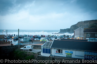 Storm watching activity in Portreath Cornwall