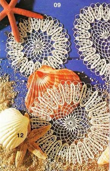 wzory szydelkowych serwetek