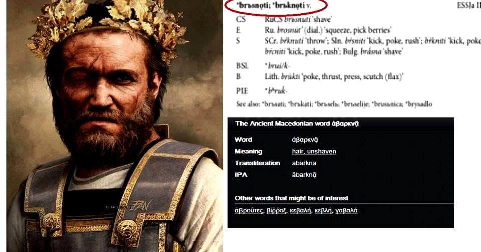 Echo Ancient Macedonian Is Slavic Language Common Words