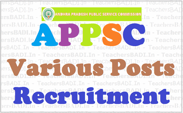 APPSC jobs, Assistant Chemists, Recruitment notification