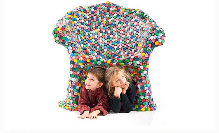 How to Recycle: Recycled Bottle Caps Chair