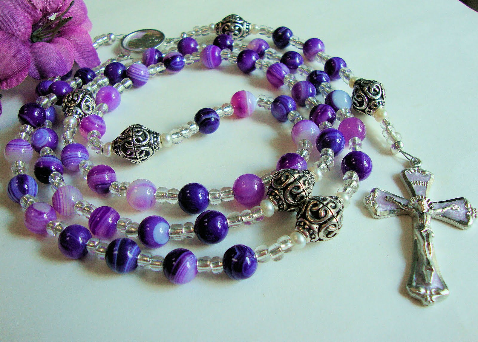 Etsy Rosary Guild Team: Beautiful Rosary made with Purple ...