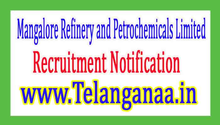 Mangalore Refinery and Petrochemicals LimitedMRPL Recruitment Notification 2017