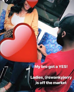Swanky Jerry Proposes To His Girlfriend