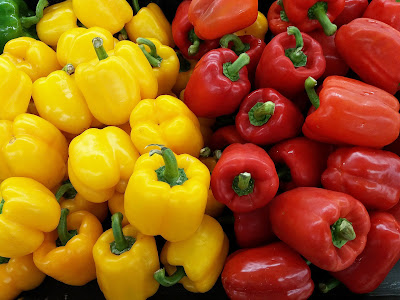 Free food stock photos and high quality images - Red and Yellow Peppers.