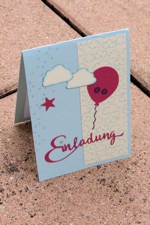 geburtstagseinladung mit luftballon, Einladung