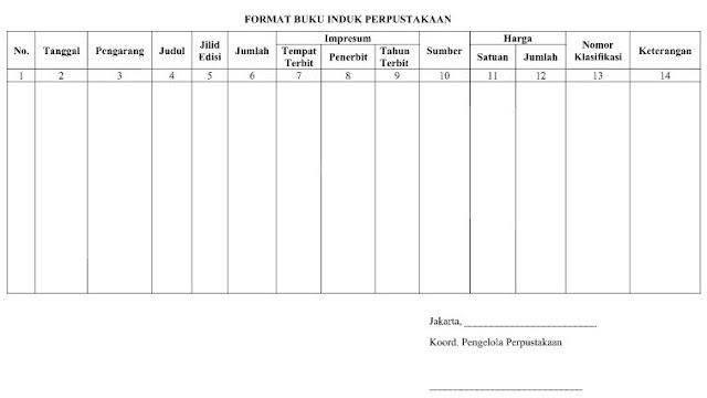 Download Format Buku Induk Perpustakaan