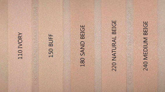 Revlon Colorstay Foundation Combination Oily Swatches 110 150 180 220 240 MAC NW15 NC15 NW25 NW20