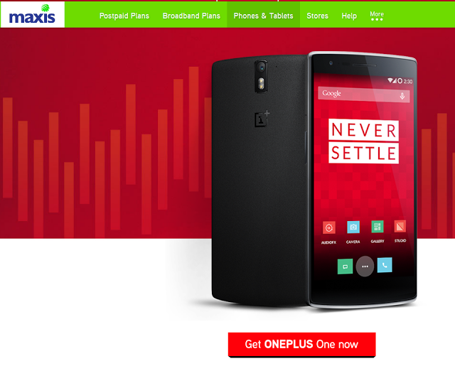Maxis OnePlus One | BE CPUV NUFFNANG 2015