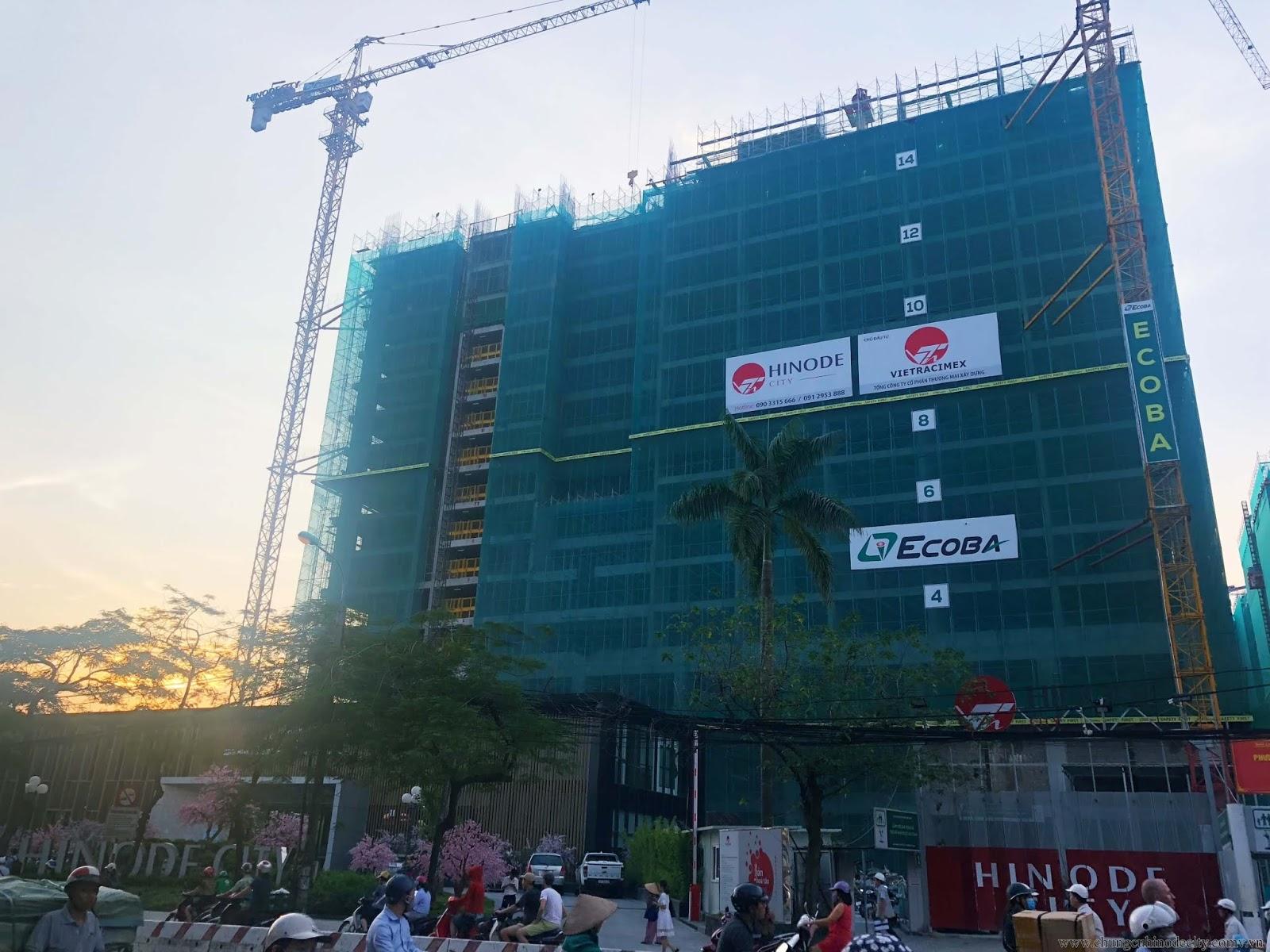Cập nhật tiến độ xây dựng của dự án Hinode City Minh Khai
