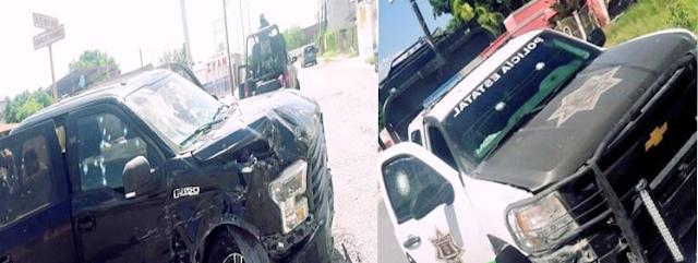 """Se dan """"topon"""" sicarios del CDG y policías en Miguel Alemán, Tamaulipas dejando 3 sicarios muertos y 2 policías heridos"""