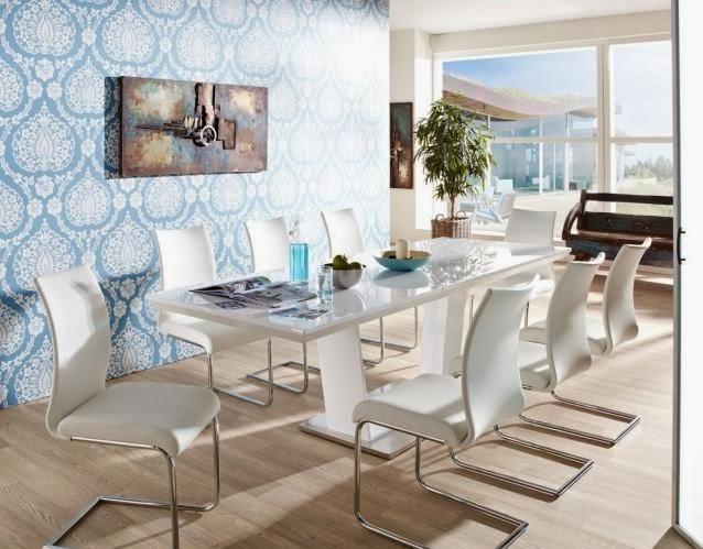 Estupendos comedores modernos y elegantes colores en casa for Comedor tapizado moderno