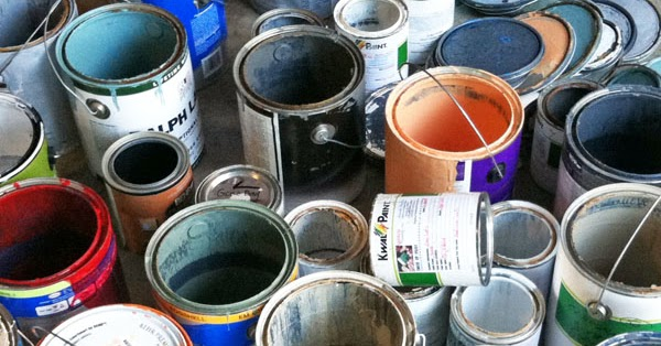 how to properly store dispose of and recycle paint and paint cans