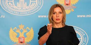 la portavoz del Ministerio de Asuntos Exteriores de Rusia