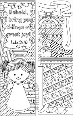 christmas coloring bookmarks diy