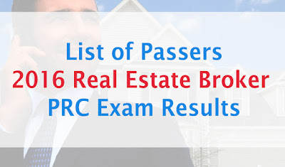 February 2016 Real Estate Brokers Board Exam Results