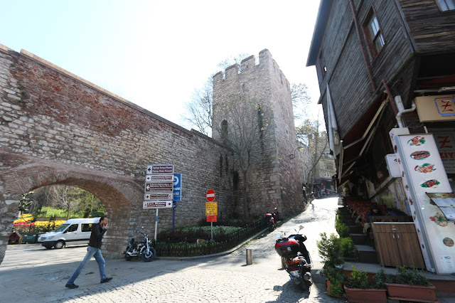 The historical wall surrounded within the entrance of Gulhane Park in Istanbul, Turkey