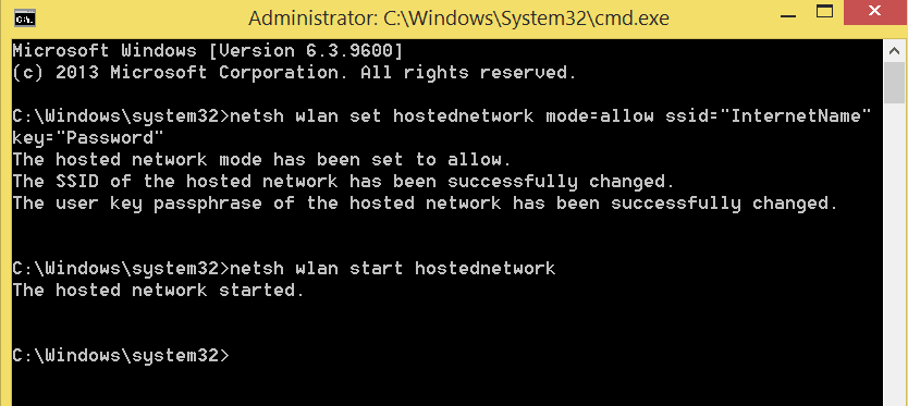 netsh commands in Command prompt