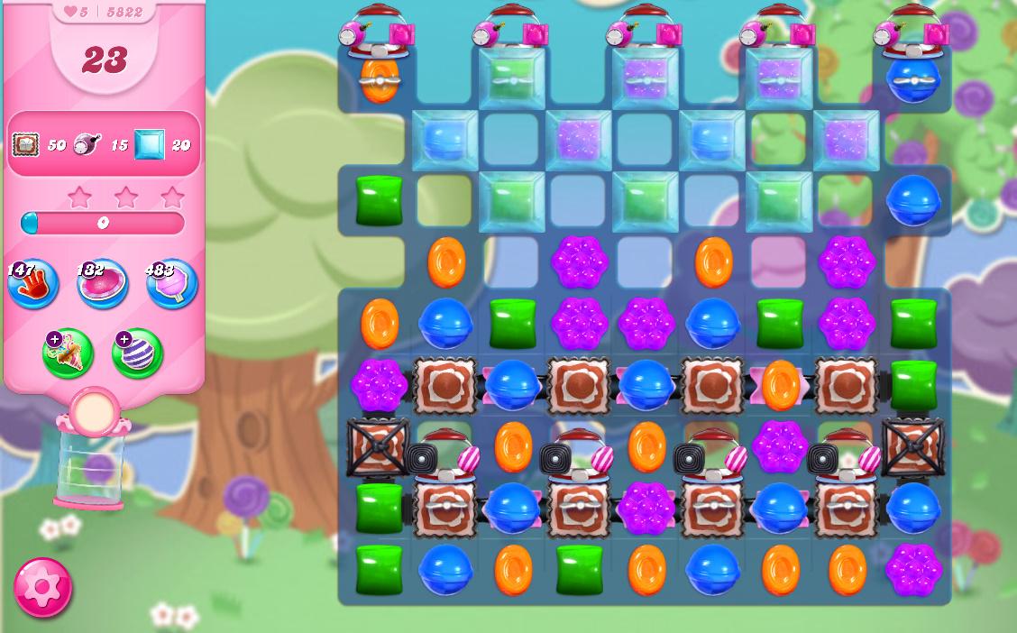 Candy Crush Saga level 5822