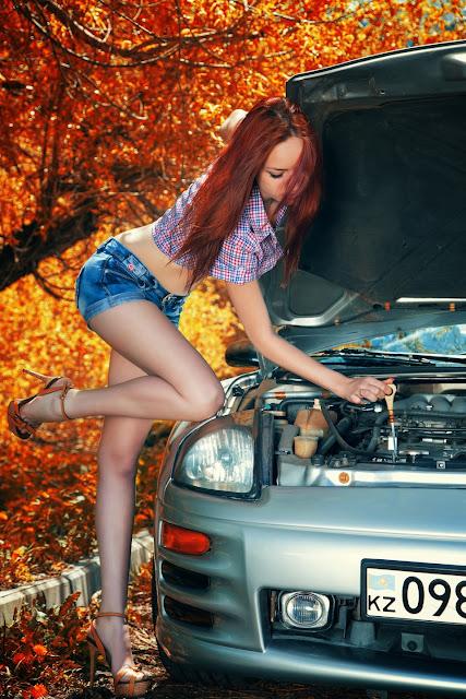 Mitsubishi Eclipse 3G, D50, dziewczyna i samochód