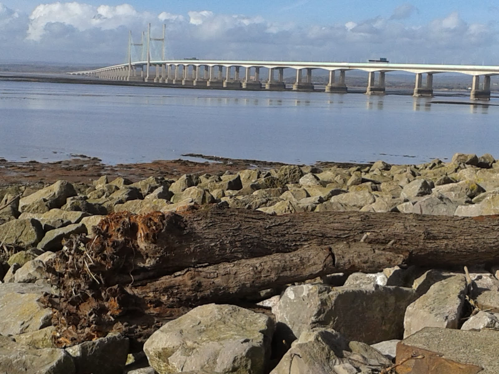 The Severn Bridge from Severn Beach
