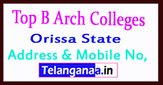 Top B Arch Colleges in Orissa