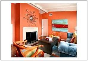 warna cat ruang tamu menurut feng shui orange