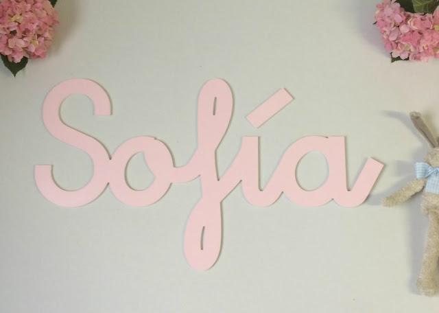 Nombres infantiles para decorar , pintados a mano