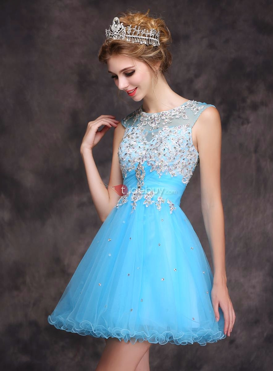Crystal Short Homecoming Dress